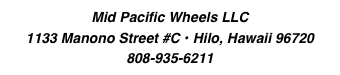 Mid Pacific Wheels LLC